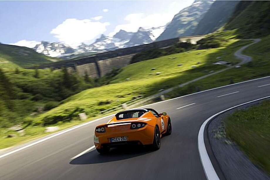 The Tesla Roadster conquered the Austrian Alps last weekend at the eSilvretta Rally, one of numerous for Tesla this summer. (Photo: Business Wire) Photo: Achim Hartmann, Business Wire