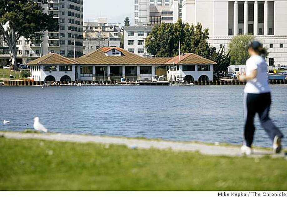 The Lake Merritt boathouse is being transformed into a restaurant - The Lake Merritt renovation project was supposed to have been finally secured with voter passage of Measure DD, but it has run into obstacles that slowed the process down. Photo: Mike Kepka, The Chronicle
