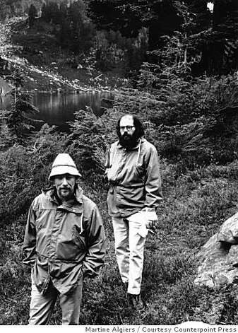 Gary Snyder and Allen Ginsberg hiking in Glacier Peak Wilderness, Washington, summer 1965. Photo: Martine Algiers, Courtesy Counterpoint Press
