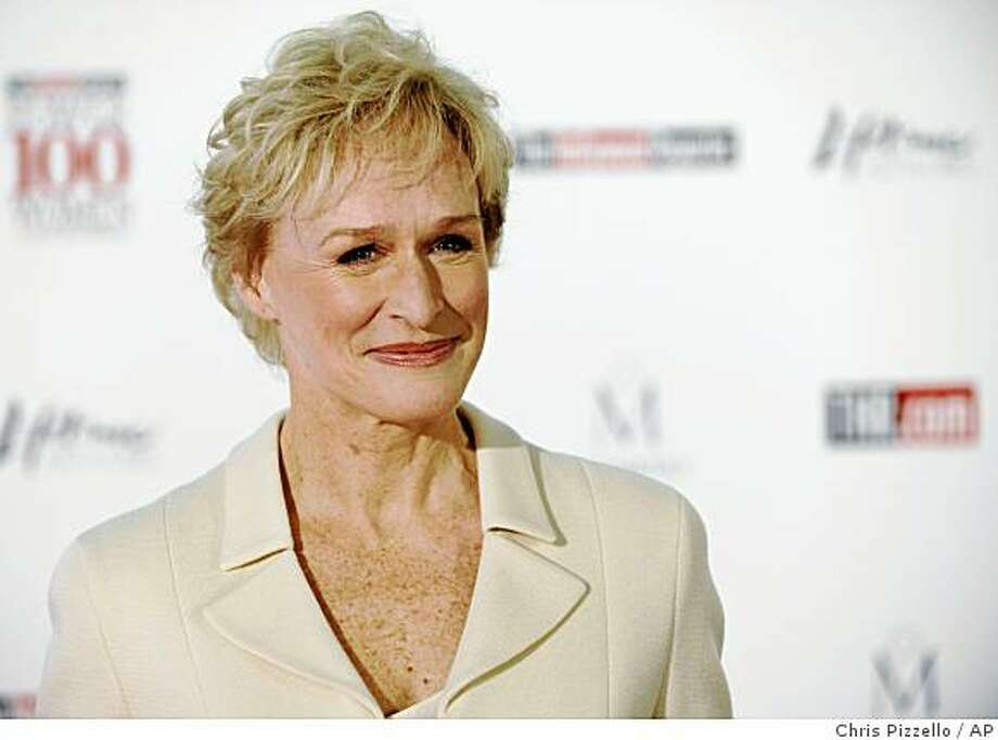 "** FILE ** In this Dec. 5, 2008, file photo actress Glenn Close arrives at The Hollywood Reporter's annual Women in Entertainment Breakfast in Beverly Hills, Calif.  In an announcement Tuesday, Dec. 23, 2008, Glenn Close, Ricky Gervais and Jake Gyllenhaal were named as presenters at ""The 66th Annual Golden Globe Awards"" to be telecast live on NBC Sunday, January 11. (AP Photo/Chris Pizzello) Photo: Chris Pizzello, AP"