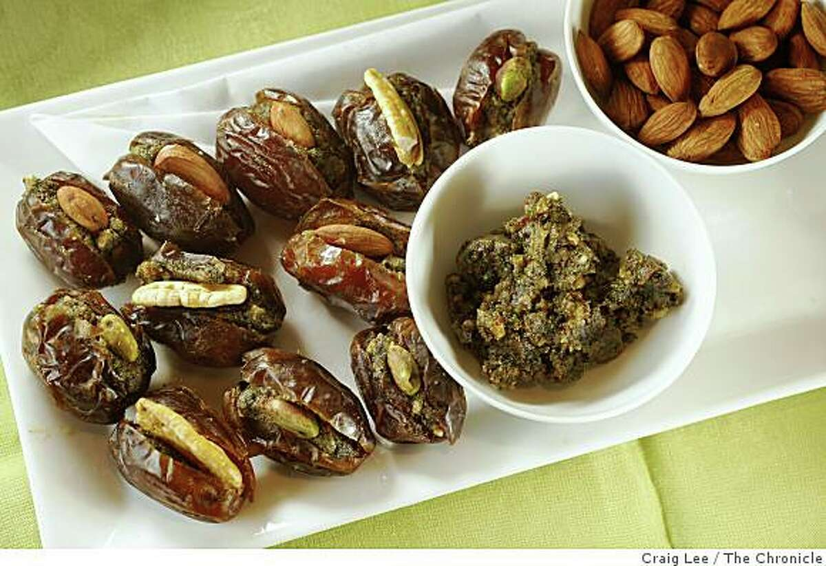 Dates stuffed with almond butter at Boulette's Larder in the Ferry Building in San Francisco, Calif., on December 8, 2008.