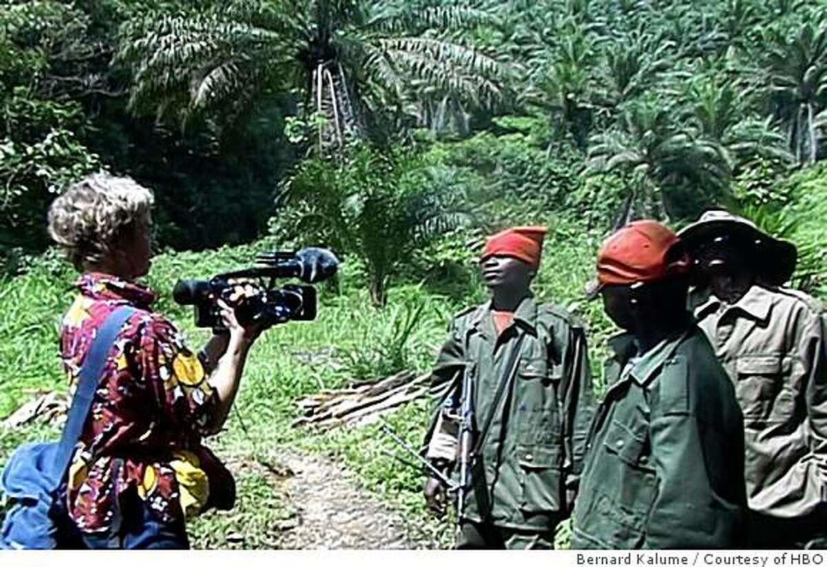 THE GREATEST SILENCE: RAPE IN THE CONGO: Lisa F. Jackson (left). photo: Bernard Kalume/Courtesy of HBO