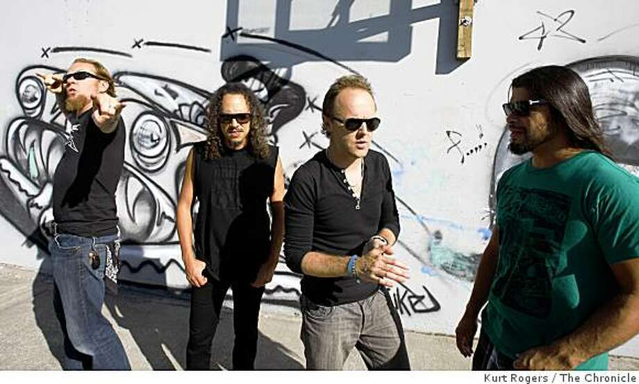 James Hetfield , Kirk Hammett,Lars Ulrich and Robert Trujillo �Metaillica� at their HQ the band is coming out with its 10th album. on Wednesday, Sept, 3  2008 in San Rafael , Calif Photo: Kurt Rogers, The Chronicle