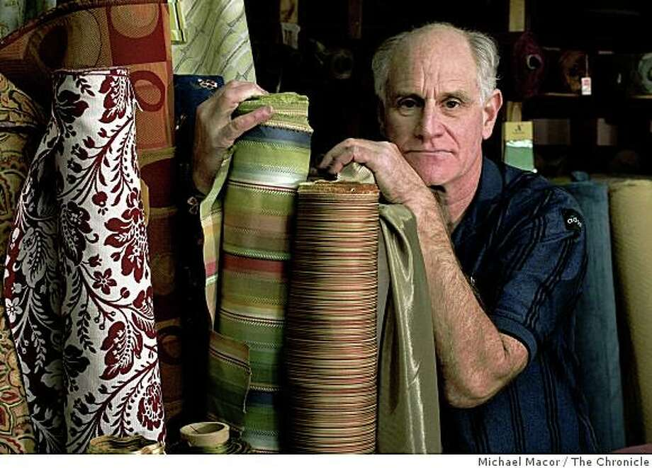 """Cliff Bernie is closing the doors in January of his decorative fabric store, """"Norman S. Bernie Company, in San Mateo, Calif., after the slumping economy and  bad investments with the Madoff ponzi scheme.  Bernie inside his shop along highway 101 on Saturday Dec. 20, 2008 Photo: Michael Macor, The Chronicle"""