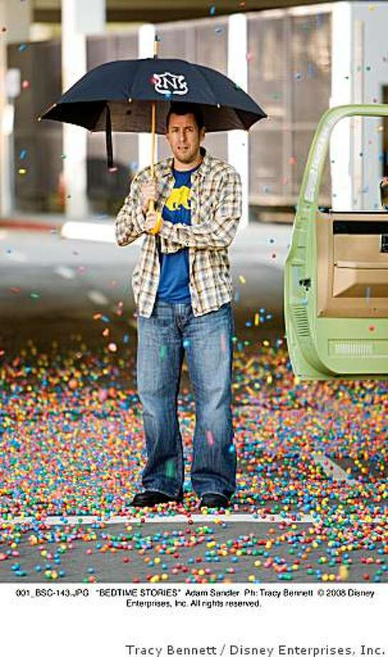 "Adam Sandler in BEDTIME STORIES.""BEDTIME STORIES."" Photo: Tracy Bennett, Disney Enterprises, Inc."