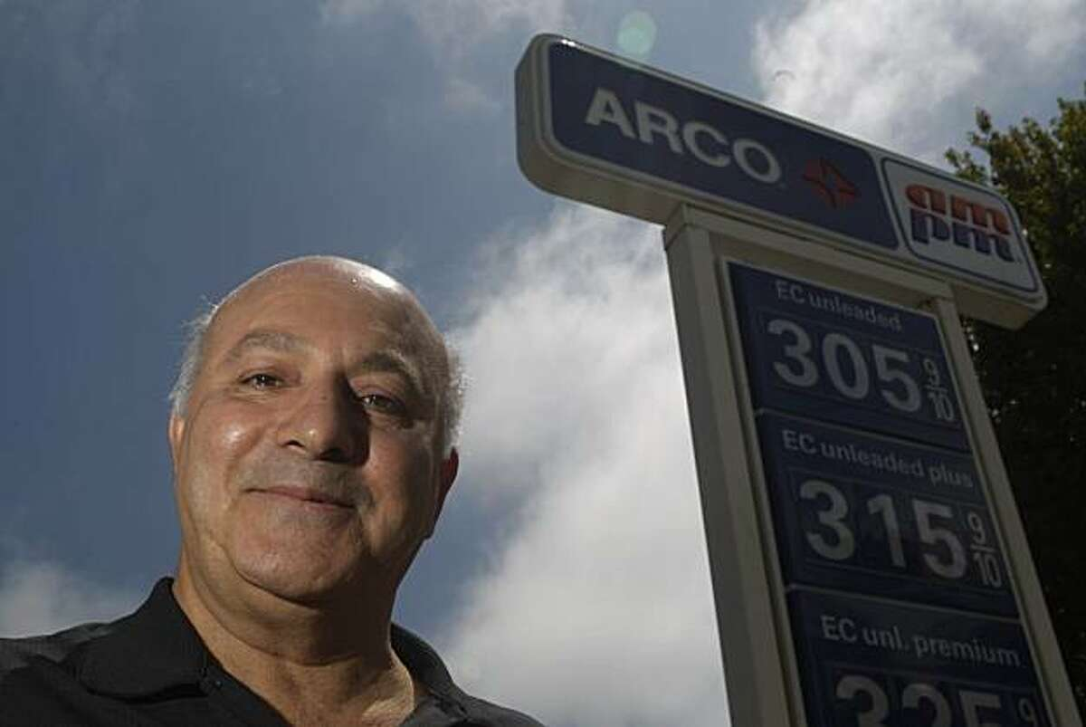Arco franchise owner Majid Ghanadan, who says that banning debit card fees could put him out of business, is seen in Albany, Calif. on Wednesday August 4, 2010. Lawmakers will consider a consumer protection measure that would ban stores from charging customers fees when they use a debit card