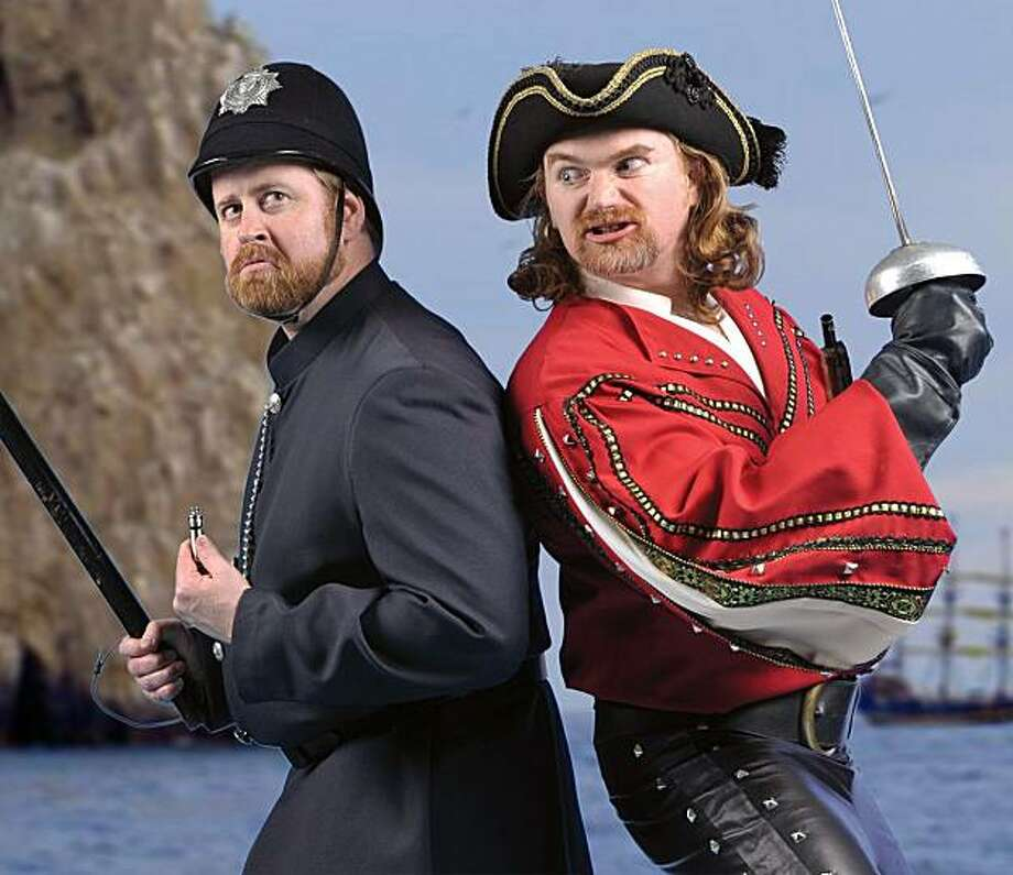 "The Lamplighters' Music Theatre presents excerpts from ""The Pirates of Penzance"" at this year's San Francisco Theater Festival, with Chris Shufor, left, and Jason Sarten. Photo: David Allen, Lamplighters Music Theatre"
