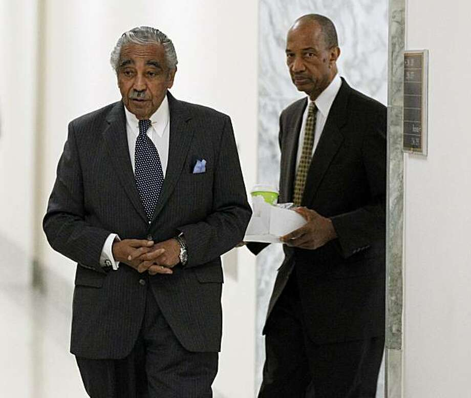 Rep. Charles Rangel, D-N.Y. arrives at his office on Capitol Hill in Washington, Friday, July 30, 2010. Photo: Alex Brandon, AP