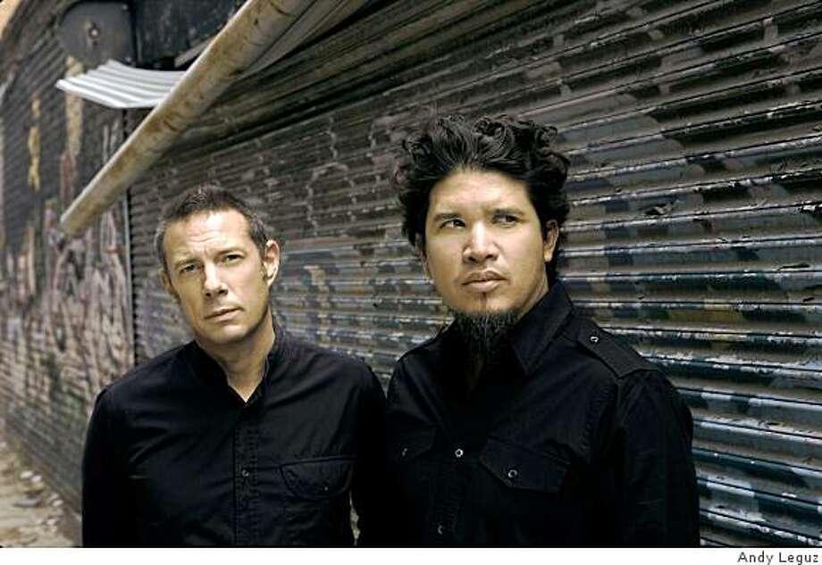 Eric Hilton, left, and Rob Garza of Thievery Corporation Photo: Andy Leguz