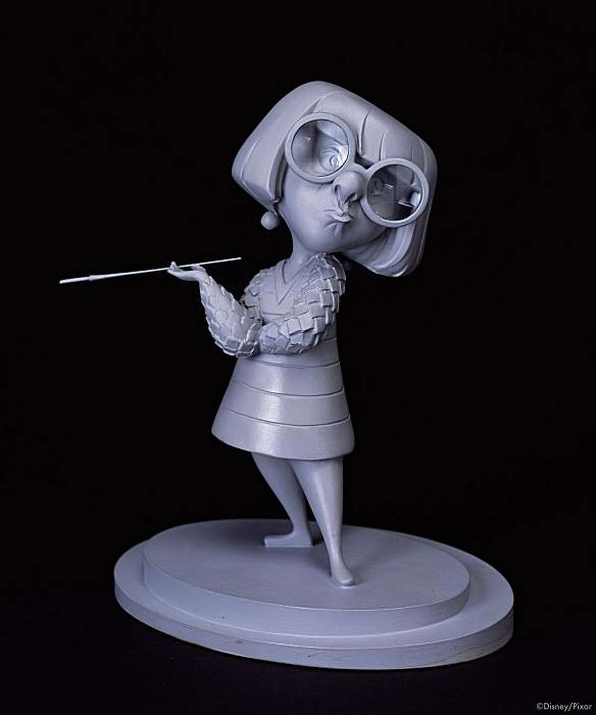 PXR1058 Kent Melton, Edna Mode (aka ?E?), The Incredibles, 2004. Cast urethane resin. ?Disney/Pixar.