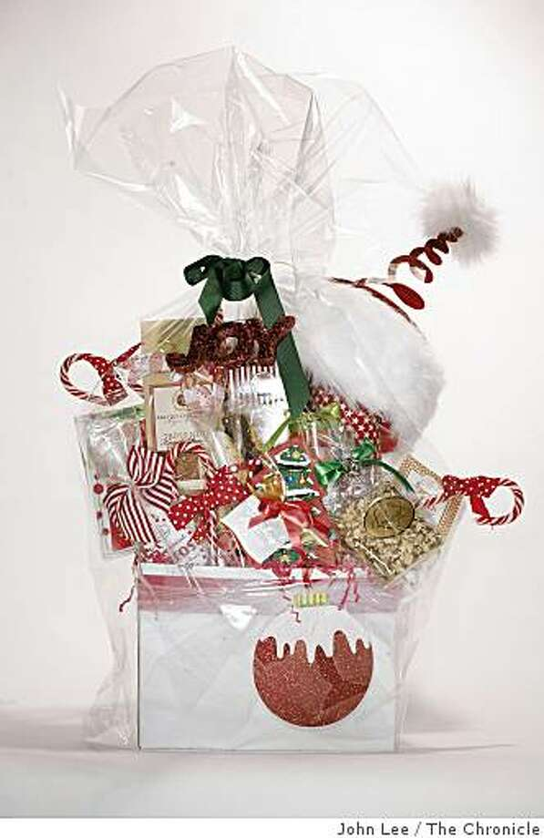 Bella Chesta in Oakland prepares gift baskets using local chocolate, cookies and biscotti. Photo: John Lee, The Chronicle