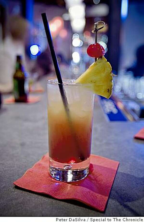 Temasek Sunset cocktail at Straits Restaurant in Burlingame, California on Dec. 6, 2008. Photo: Peter DaSilva, Special To The Chronicle