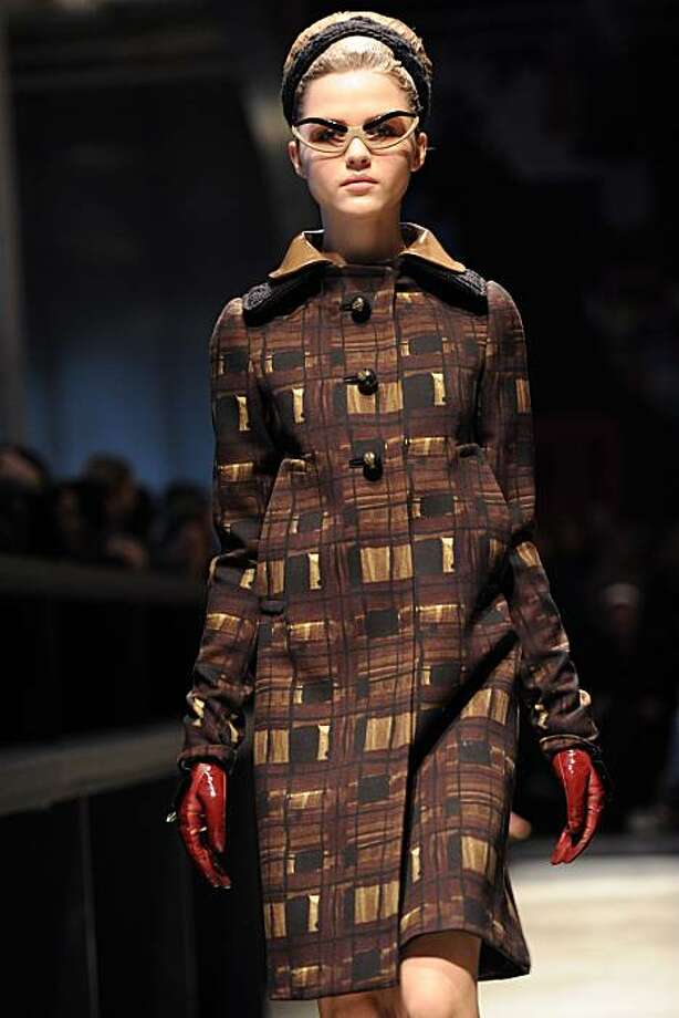 A model displays a creation as part of Prada Fall-Winter 2010-2011 ready-to-wear collection on February 25, 2010 during the Women's fashion week in Milan. Photo: Christophe Simon, AFP/Getty Images