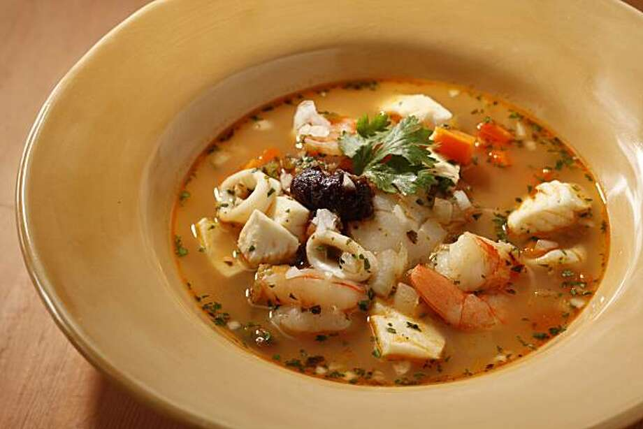 Mexican Street Seafood Stew in San Francisco, Calif., on July 14, 2010. Food styled by Katie Popoff. Photo: Craig Lee, Special To The Chronicle