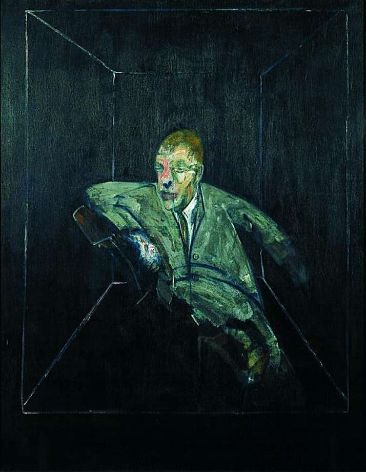 Francis Bacon: Study for Figure V, 1956; oil on canvas; 60 x 46-1/2?; Photo: Berkeley Art Museum