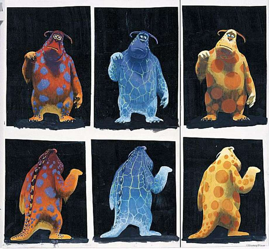 "Sully, soon to take up scaring small children in ""Monsters Inc.,"" tries a few looks in Tia W. Kratter's  Sullivan fur pattern studies. Photo: ©Disney/Pixar"