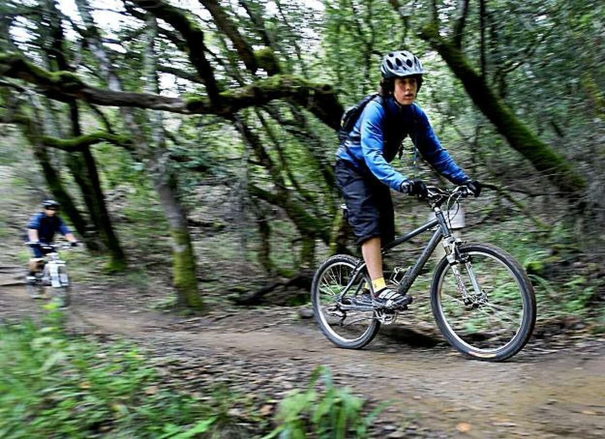 Tamarancho Loop: Camp Tamarancho is the No. 1 mountain bike park in California, where you pay $5 for a month for unlimited riding with like-kinds on single-track trails. The 9-mile Tamarancho Loop, single-track on the east side of White Hill, is the centerpiece. Owned and operated by the Marin Council of the Boy Scouts of America. -- Tom Stienstra.