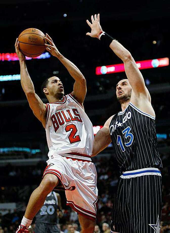 Jannero Pargo #2 of the Chicago Bulls goes up for a shot against Marcin Gortat #13 of the Orlando Magic at the United Center on February 10, 2010 in Chicago, Illinois. The Magic defeated the Bulls 107-87. Photo: Jonathan Daniel, Getty Images