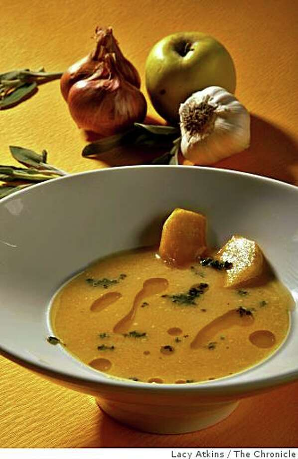 Parsnip and apple soup photographed in studio, Thursday Dec. 11, 2008  in San Francisco, Calif. Photo: Lacy Atkins, The Chronicle