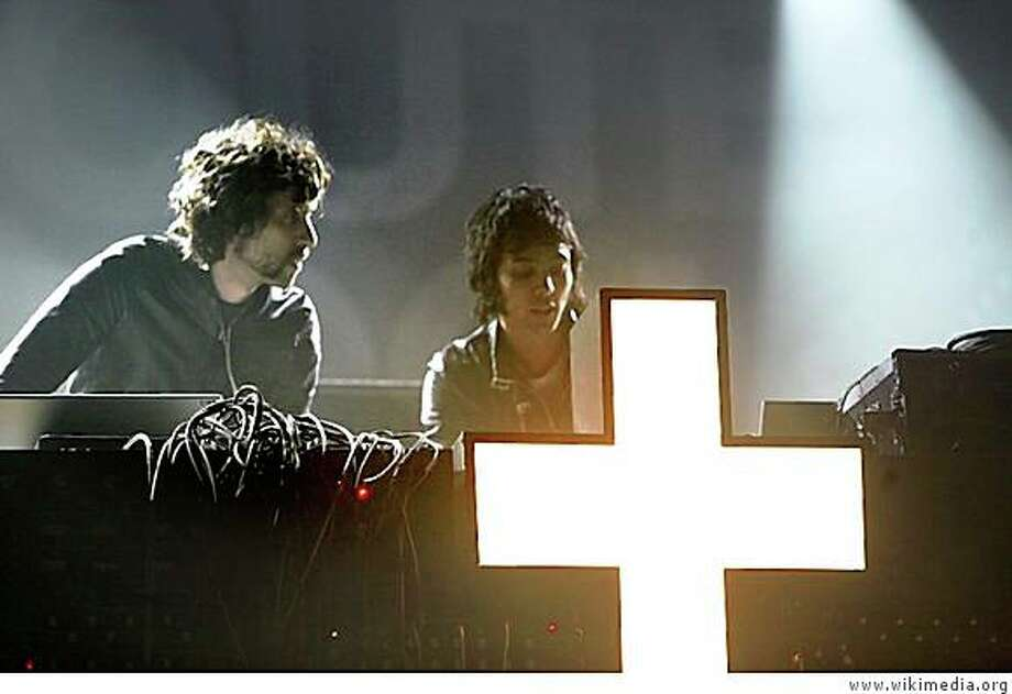 Gaspard Auge and Xavier de Rosnay of the French electronic band Justice. Photo: Www.wikimedia.org