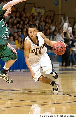 Kelvin Kim, UC San Diego men's basketball, 2008 Photo: Jimmy Gekas, Sideline Studios