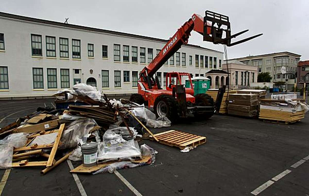 Claire Lillienthal Elemetary School, in San Francisco, Ca. on Tuesday July 20, 2010, is currently under going a roof renovation. A new state investigation has found that school districts often spend up to twice they need to on new roofs due to proprietary bidding by contractors.