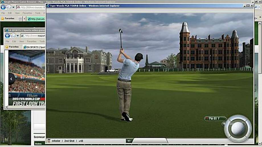 Tiger Woods PGA TOUR Online provides on-the-go golf enthusiasts with the most accessible, authentic and feature-rich golf video game experience available through a web browser. Photo: Electronic Arts