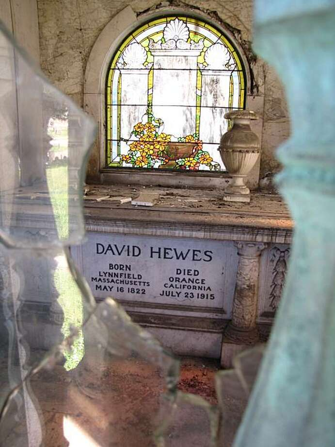 David Hewes' grave is at Mountain View Cemetery in Oakland, Calif. Photo: Charlie Wells, The Chronicle