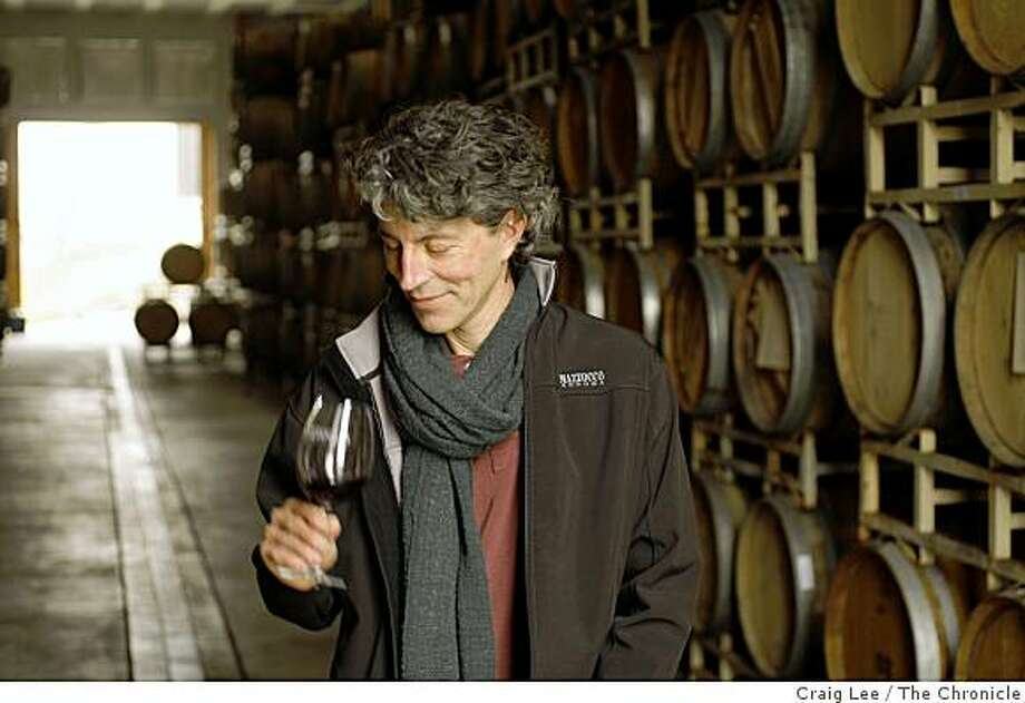 Antoine Favero, winemaker at Mazzocco winery, in Healdsburg, Calif., on December 3, 2008. Photo: Craig Lee, The Chronicle