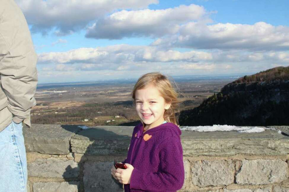 Madeline Musto visits Thacher Park. (Family photo)