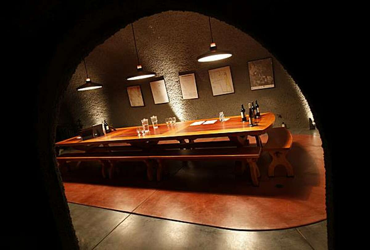 The underground cave tasting room is a cool spot for groups to taste the wines of Gundlach Bundschu. The Gundlach Bundschu winery in Sonoma, Calif. has over 300 acres of grapes and a wide ranging tour that is popular with tourists and residents alike.