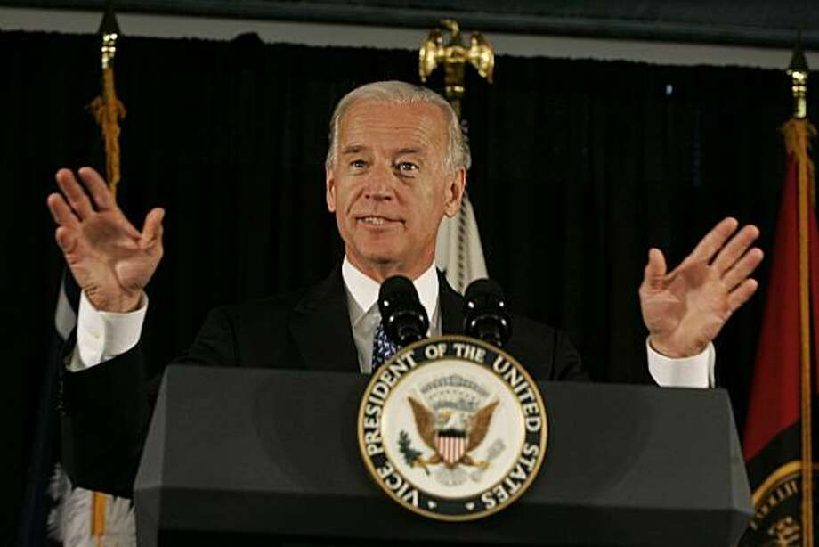 Vice President Joe Biden gestures as he talks about his good friend former U.S. Sen. Ernest Fritz Hollings during the dedication ceremony of the new Ernest F. Hollings Special Collections Library, Friday, July 23, 2010, in Columbia, S.C. Photo: Mary Ann Chastain, AP