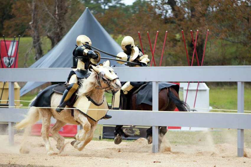 Promotional picture for the new television series ?Full Metal Jousting.? Paul Suda of Saratoga County is featured in the show, which debuts Sunday night on the History Channel. (Courtesy History Channel)