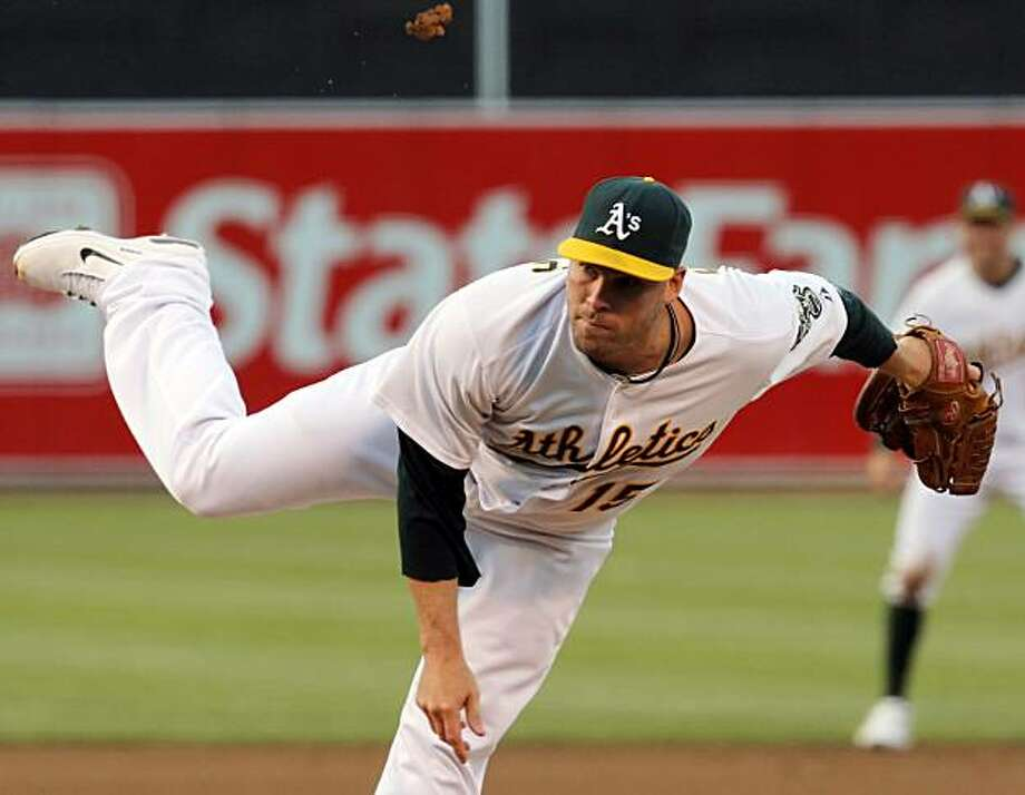Ben Sheets pitches for the Athletics. The Oakland Athletics played the Los Angeles Angeles of Anaheim on Monday, June 7, 2010, at the Oakland-Alameda County Coliseum in Oakland, Calif. Photo: Carlos Avila Gonzalez, The Chronicle