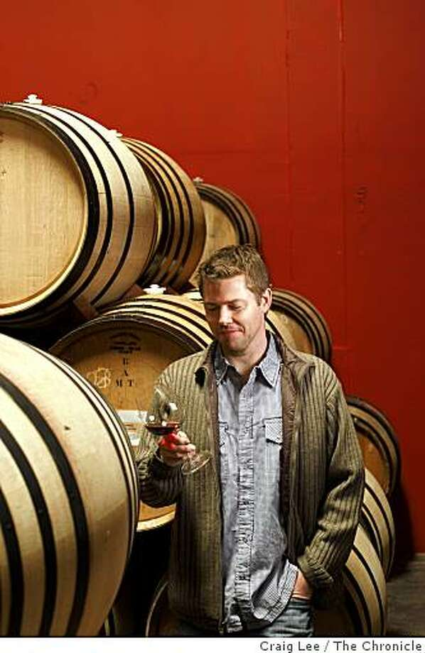 Kevin Kelley, winemaker for his own Salinia label, plus the Lioco label and several others. He is one of the emerging masters of Pinot Noir and makes wine in Santa Rosa, Calif., on December 3, 2008. Photo: Craig Lee, The Chronicle