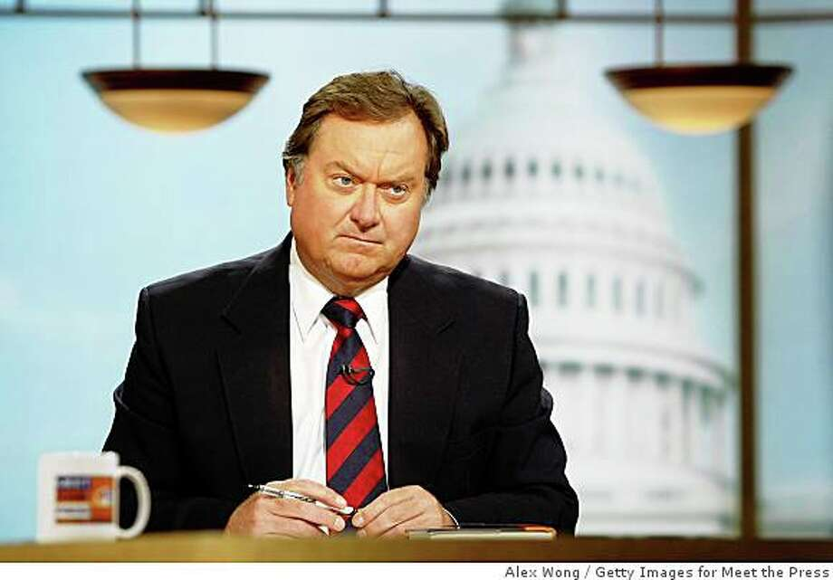 WASHINGTON - SEPTEMBER 16:  (FILE PHOTO) Moderator Tim Russert listens during a taping of Meet the Press at the NBC studios September 16, 2007 in Washington, DC. According to reports, Russert died June 13, 2008 of a heart attack while at the NBC news bureau in Washington.   (Photo by Alex Wong/Getty Images for Meet the Press) Photo: Alex Wong, Getty Images For Meet The Press