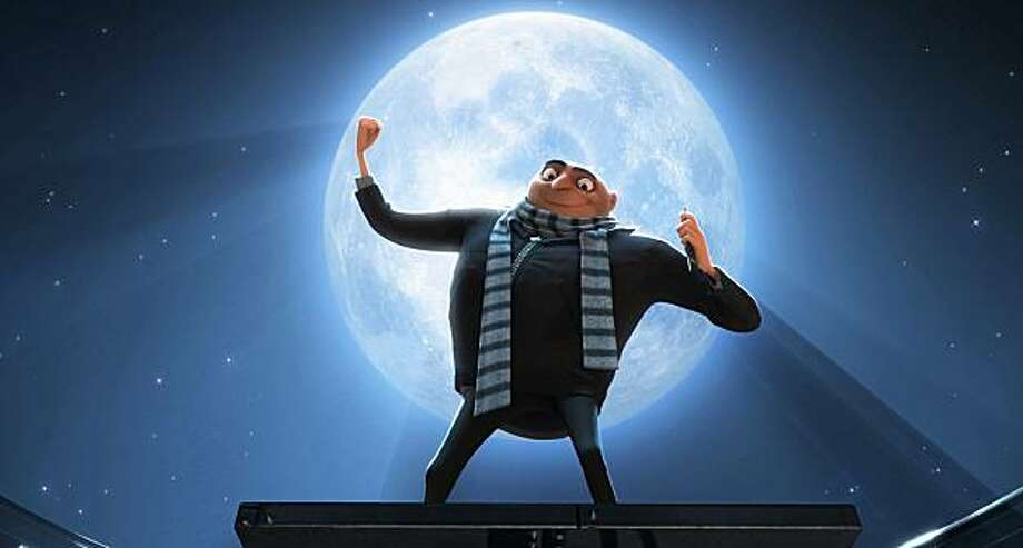 Gru (STEVE CARELL) tells his minions about their new mission to steal the moon in Universal Pictures and Illumination Entertainment?s inaugural 3-D CGI feature, ?Despicable Me?.  The film tells the story of one the world?s greatest villains who meets his match in three little girls. Photo: Universal Pictures