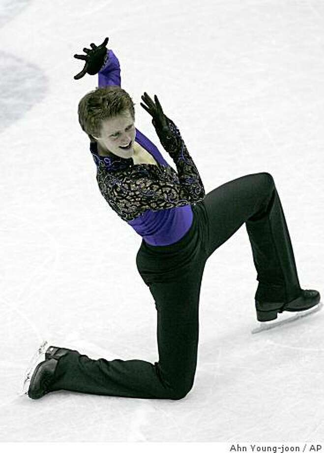 United States' Jeremy Abbott performs in the men's free skating of ISU Grand Prix of Figure Skating Final in Goyang, north of Seoul , South Korea, Saturday, Dec. 13, 2008.(AP Photo/Ahn Young-joon) Photo: Ahn Young-joon, AP