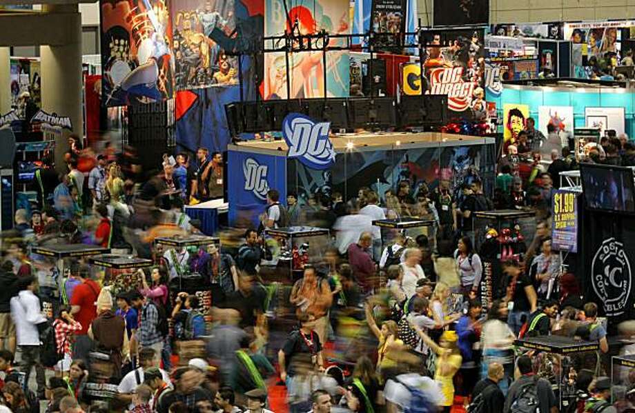 SAN DIEGO - JULY 22: Fans peruse the aisles during Comic-Con International: San Diego 2010 at the San Diego Convention Center on July 22, 2010 in San Diego, California. Comic-Con is one of the largest pop-culture conventions in the world, bringing together fans of various genres including science fiction, fantasy, movies and television. The convention runs from July 22-25. Photo: Sandy Huffaker, Getty Images