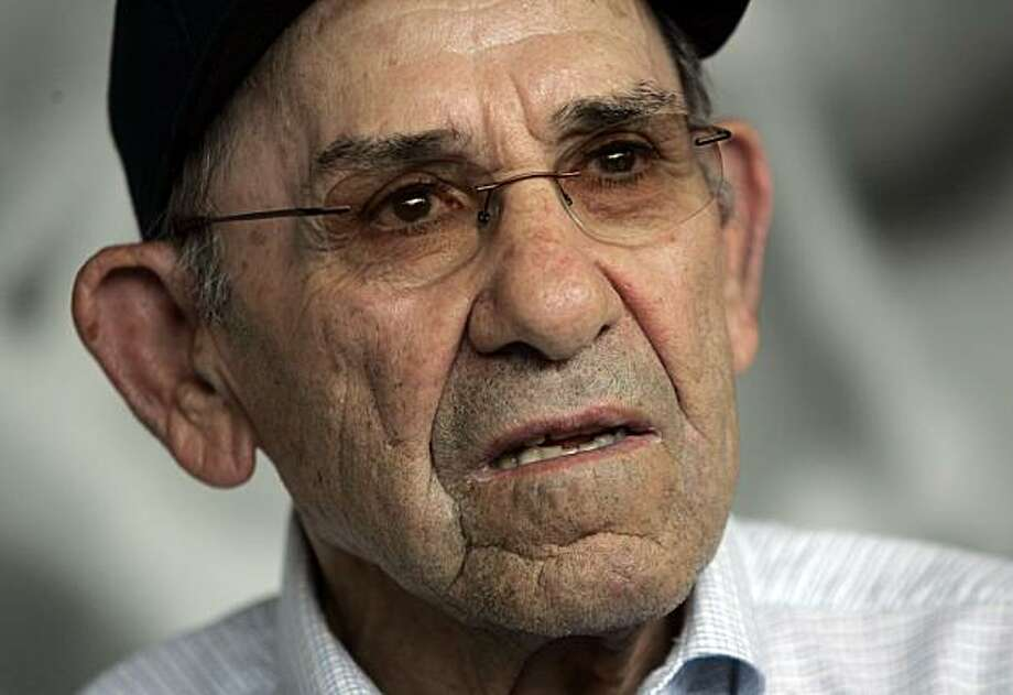 Former New York Yankees great Yogi Berra remarks about the passing of Yankees owner George Steinbrenner from his museum in Montclair, N.J. Tuesday, July 13, 2010. George Steinbrenner, who rebuilt the New York Yankees into a sports empire with a mix of bluster and big bucks that polarized fans all across America, died Tuesday, in Tampa, Fla. Photo: Rich Schultz, AP
