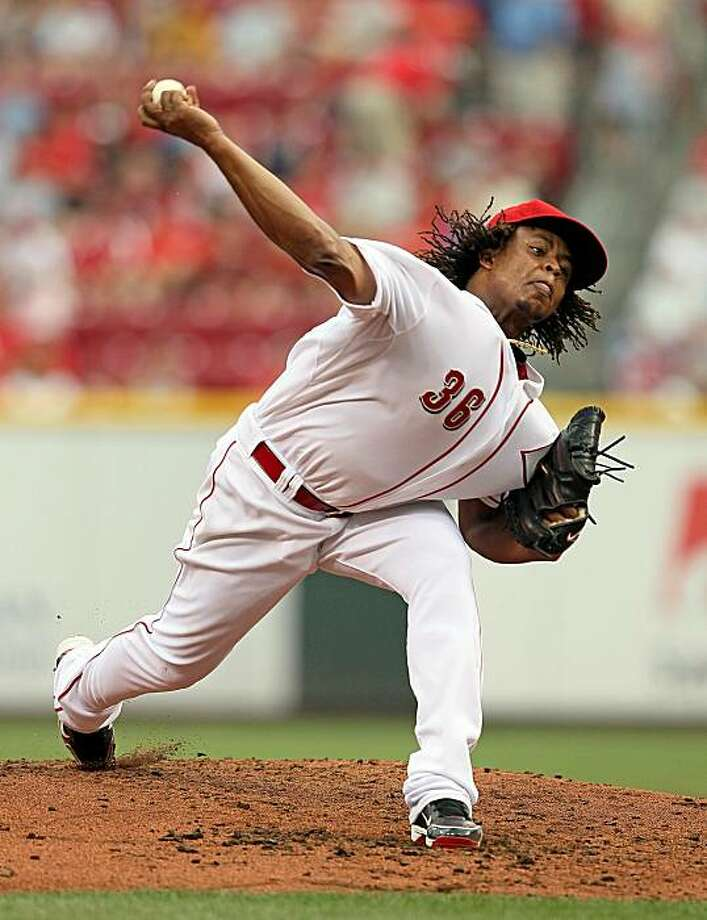 CINCINNATI - JULY 17:  Edinson Volquez #36 of the Cincinnati Reds throws a pitch during the game against the Colorado Rockies at Great American Ball Park on July 17, 2010 in Cincinnati, Ohio. Photo: Andy Lyons, Getty Images