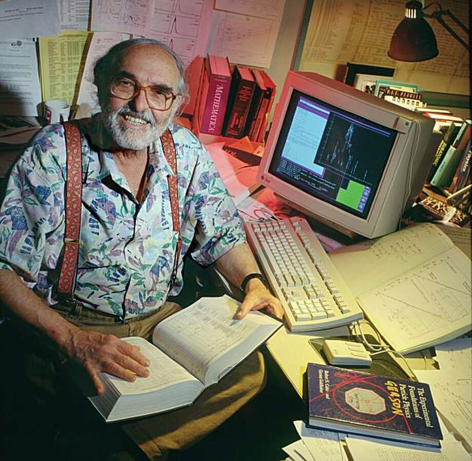 Gerson Goldhaber in his office at Lawrence Berkeley Laboratory Photo: Roy Kaltscmidt, Berkeley Lab Public Affairs