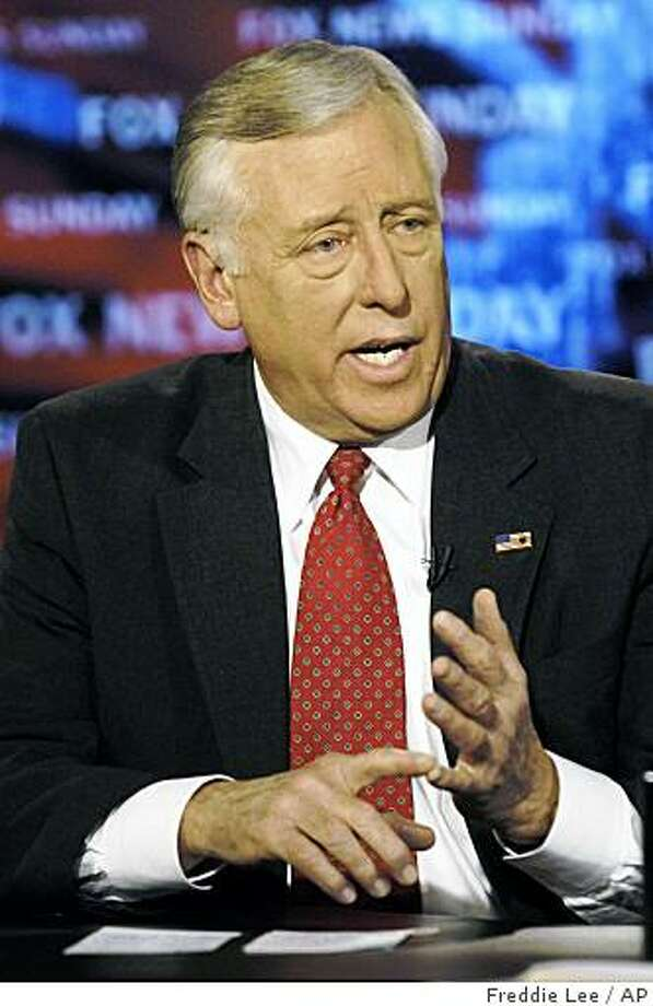 "In this photo provided by FOX News, House Majority Leader Steny Hoyer, D-Md., appears on ""Fox News Sunday"" in Washington, Sunday, Jan. 7, 2007. (AP Photo/FOX News Sunday, Freddie Lee Photo: Freddie Lee, AP"