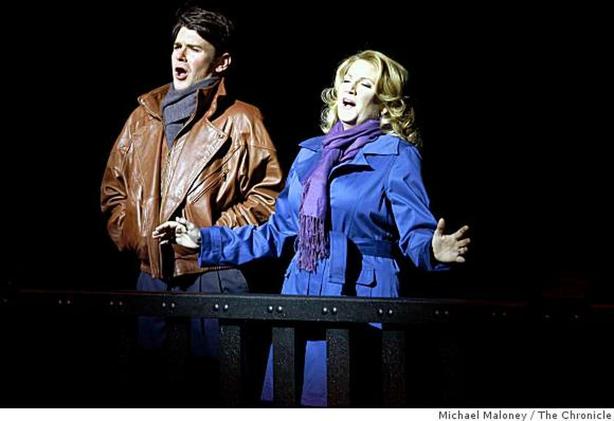 Keith Phares, left, plays Charlie and Kristin Clayton as Beatrice during a dress rehearsal of