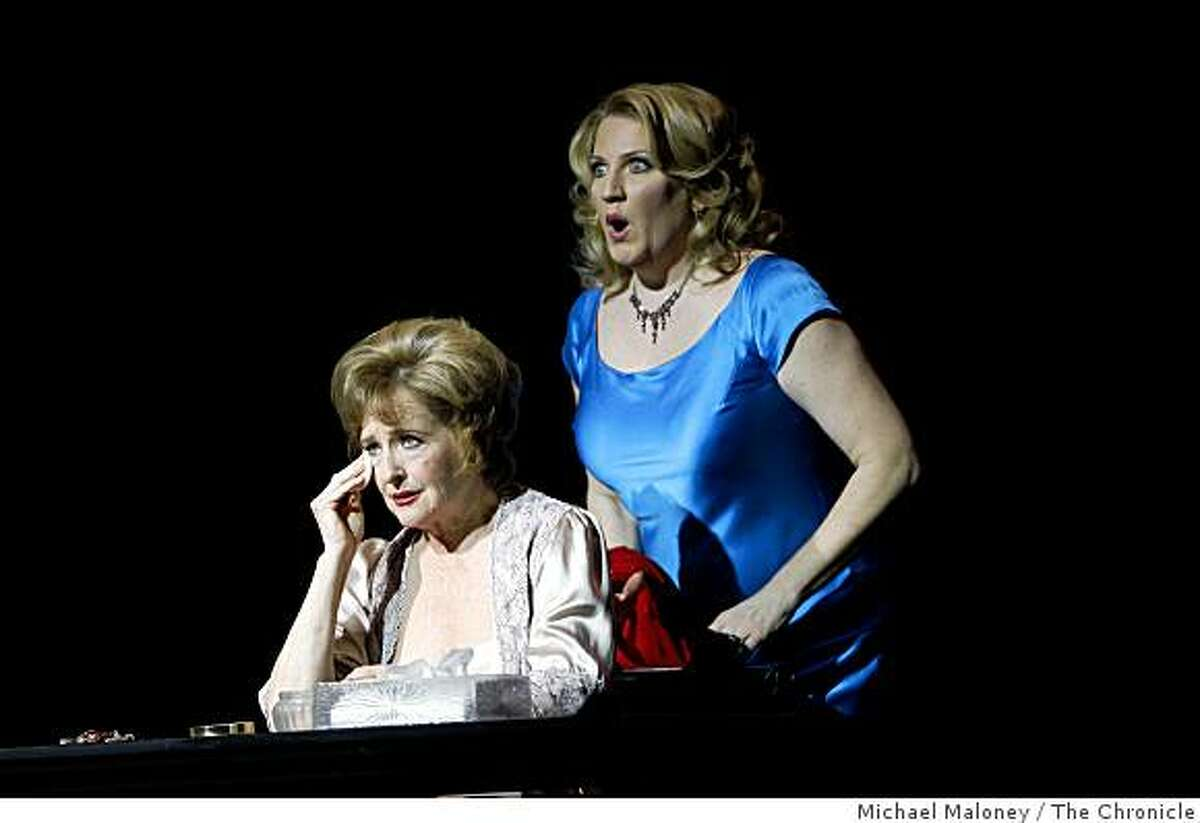 Frederica von Stade, left, plays Madeline Mitchell and Kristin Clayton as Beatrice during a dress rehearsal of