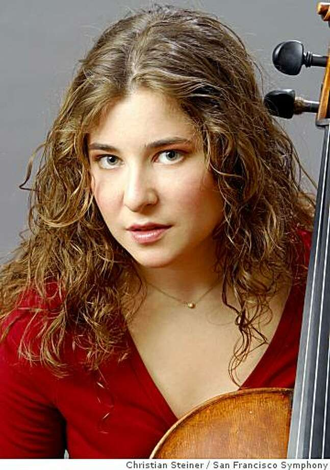 Cellist Alisa Weilerstein Photo: Christian Steiner, San Francisco Symphony