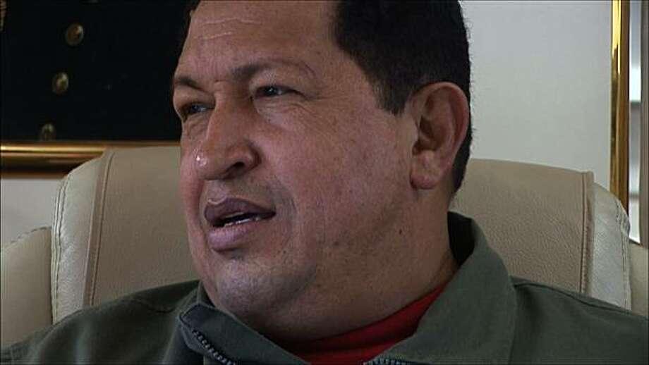 "President Hugo Chavez of Venezuela appears in a scene from, ""South of the Border."" Photo: Cinema Libre Studio"