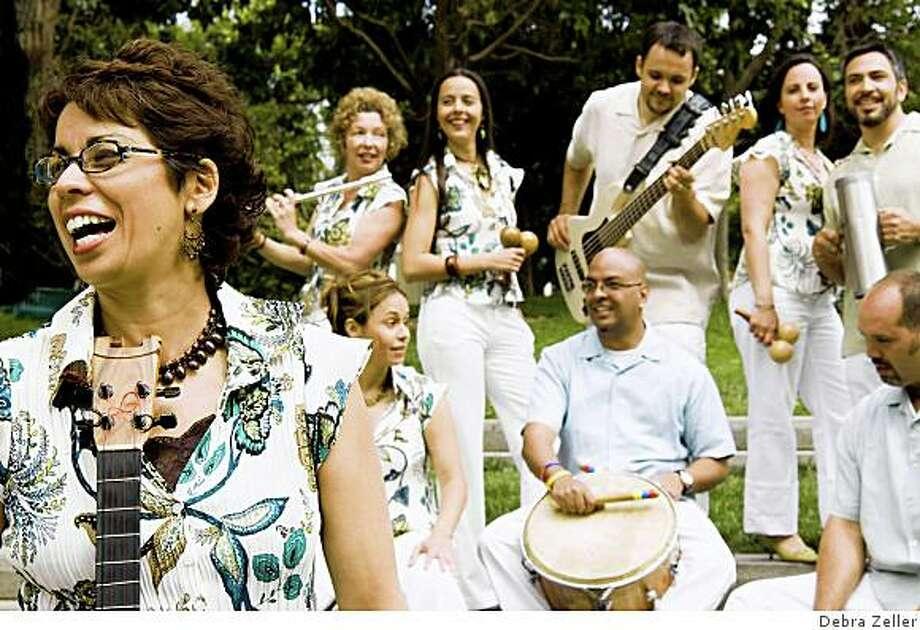 Jackeline Rago and the Venezuelan Music Project perform at La Pena in Berkeley on Saturday. Photo: Debra Zeller