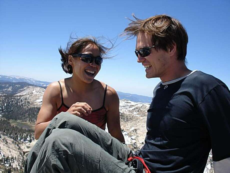 Christina Chan and climbing partner Jim Castelaz at Yosemite National Park on Friday July 9, 2010, less than two hours before she fell to her death Photo: Courtesy, Jim Castelaz