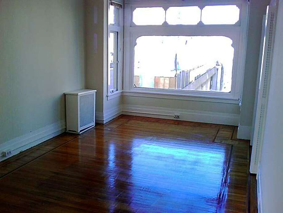 A shot of an apartment inside 1111 Jones for What You Can Rent. Photo: Courtesy Bill Harkins